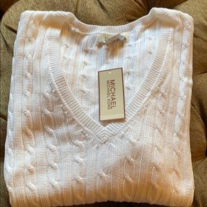 ⭐️NWT⭐️Michael Kors White Cable Sweater